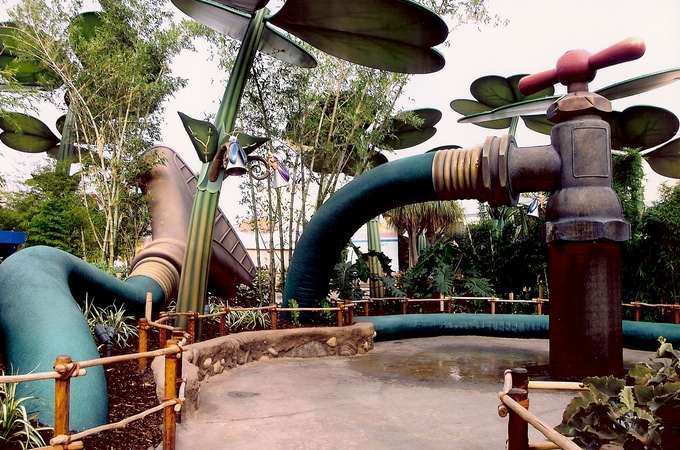 Faucet Water Feature (12' tall) Installed, It's A Bug's Land ...